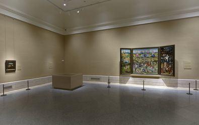 Sala 56, con 'El jardín de las delicias' del Bosco. Madrid, Museo Nacional del Prado.