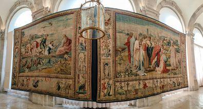 La colección real española de tapices, gestionada y administrada por Patrimonio Nacional, es considerada única en el mundo por el número de piezas que atesora.