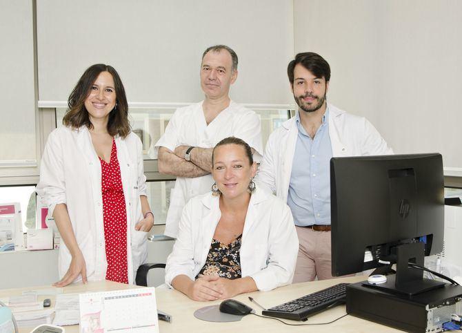 En la imagen, de izquierda a derecha, las Dras. María José Gómez-Roso y Constanza Caliendo y los Dres. Juan José López Galian y Carlos Piñel.