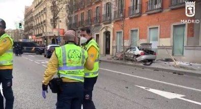 Se estrella un coche en Serrano, tras una persecución