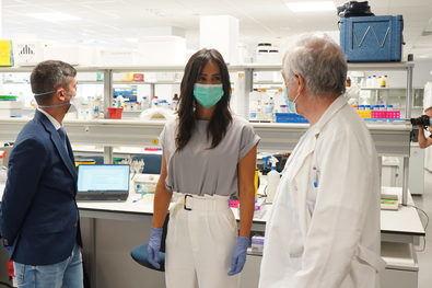 """La vicealcaldesa ha destacado la necesidad de que """"la financiación para investigación se haga ahora, pero sobre todo que no se paralice en el futuro""""."""