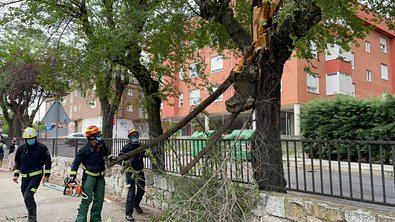 Madrid tuvo ayer la 'tormenta del siglo'