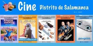 'Cine de Navidad' forma parte de la programación de Navidad que ha organizado la Junta Municipal de Salamanca para los vecinos del distrito.