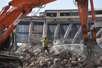 La demolición del estadio de fútbol Vicente Calderón ya llevó a los vecinos, en septiembre del año pasado, a reunirse con el Consistorio.