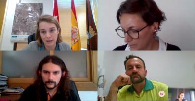 Los portavoces de los grupos municipales de Usera mantuvieron una videoconferencia.