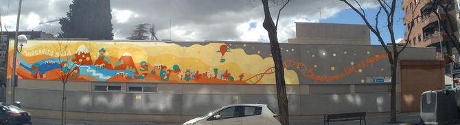 En la imagen, un render de cómo se verá el mural, una vez que esté finalizado en mayo.