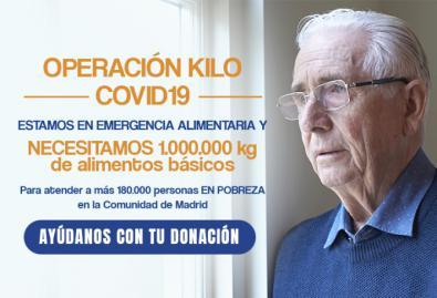 Banco de Alimentos lanza una Operación Kilo Covid19 online