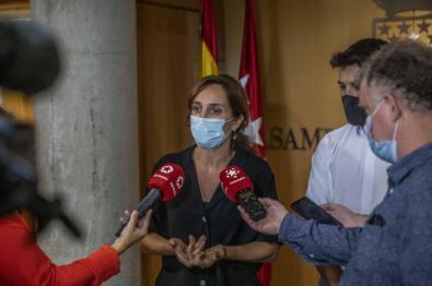 Mónica García, portavoz de Más Madrid en la Asamblea regional.